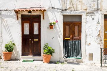 Two entrance doors in Lisbon