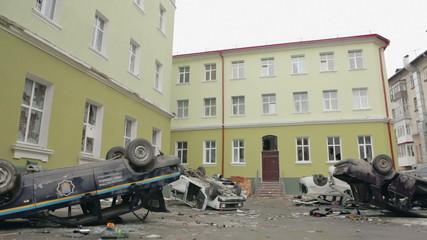 Destroyed police station