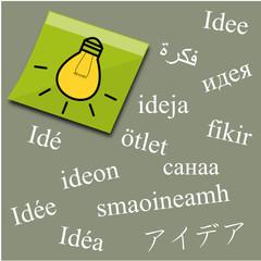 Idées de toutes les langues
