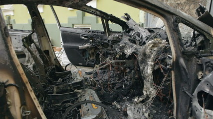 Burned car