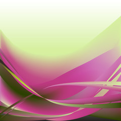 Colorful waves isolated abstract background light