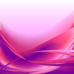 Colorful waves isolated abstract background pink