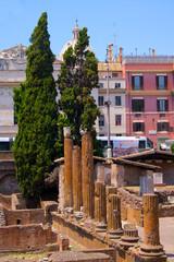 Forum Romanum pillars Italy