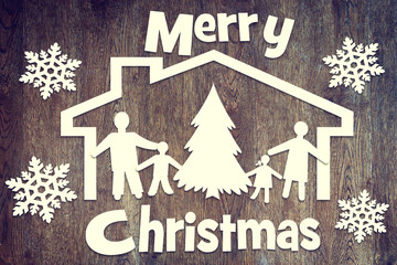 Happy family and Christmas holiday