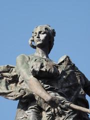 Monumento a Daoiz y Velarde en el Alcazar de Segovia