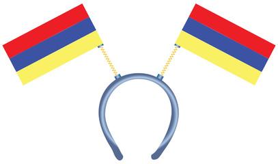 Armenia flag on the headdress