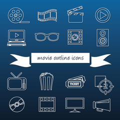 movie outline icons