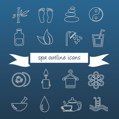 spa outline icons