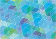 blue vector cubes background