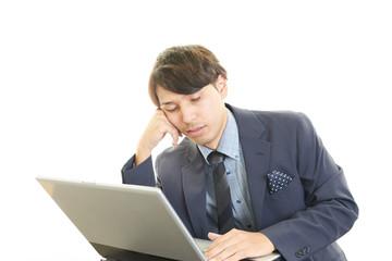 疲れたビジネスマン