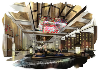 sketch design hotel,interior design,hotel,lobby hall