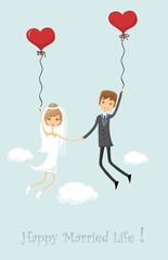 Свадебное фото, жених и невеста в любви, вектор фон