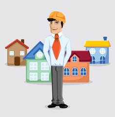 Мультфильм инженер строитель и дома