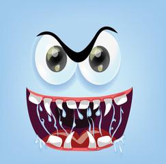 Мультфильм сердитое лицо