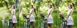 Beautiful girl wearing a nice white dress having fun in park