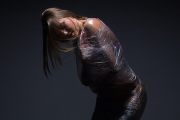 Photo of wraped girl