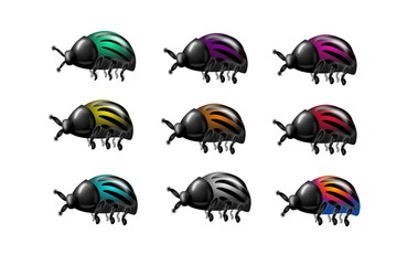 Set of beetles