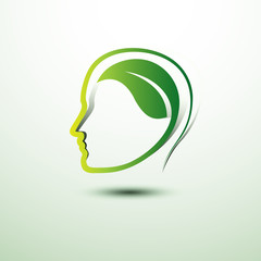 Think green eco concept  icon ,vector illustration