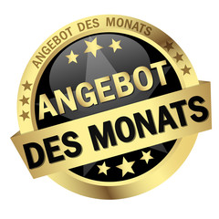 Button with banner Angebot des Monats