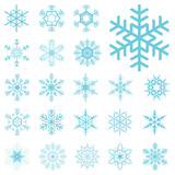 Fototapety collection of different blue snowflakes