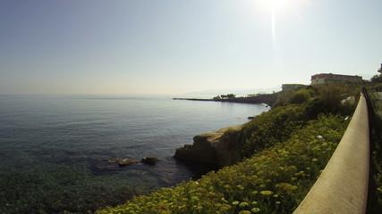 Херсониссос на острове Крит. Вид на средиземное море.