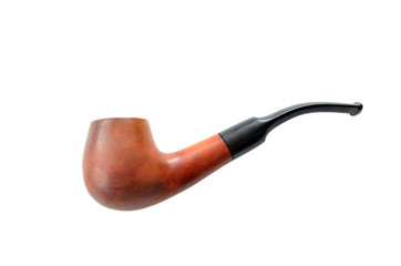 Isolated brown wooden pipe
