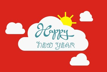 vector Happy New Year illustration