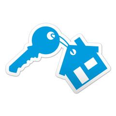 Pegatina simbolo llave de vivienda