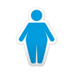 Pegatina simbolo obesidad
