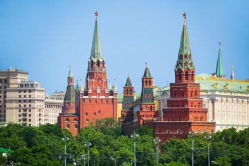 Vodovzvodnaya and Borovistakaya towers of Kremlin