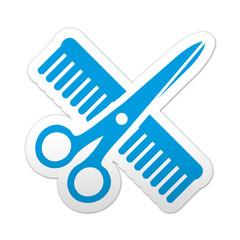 Pegatina simbolo peluqueria