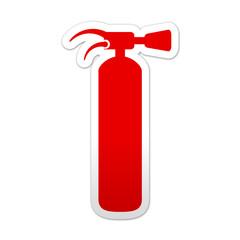 Pegatina simbolo rojo extintor
