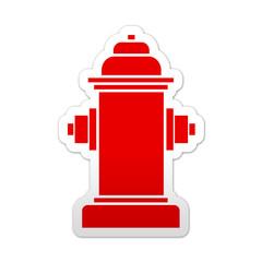 Pegatina simbolo rojo hidrante
