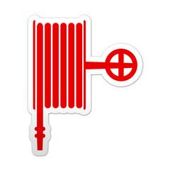 Pegatina simbolo rojo manguera