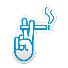 Pegatina simbolo zona de fumadores