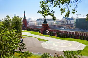Helipad in Kremlin, Moscow, Russia