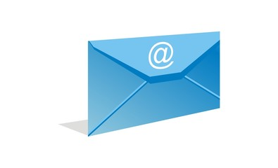 vector email blue envelope