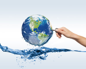 eco globe in water
