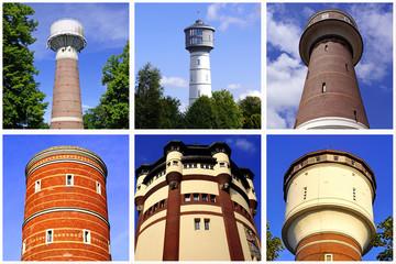 6 Wassertürme am NIEDERRHEIN