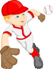 boy cartoon baseball player