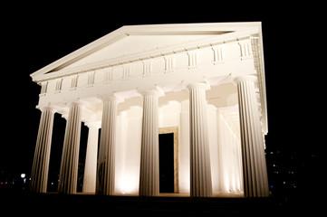 White acropolis monument in Vienna