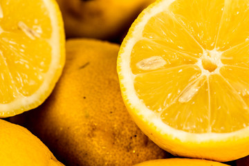 Lemon close-up background