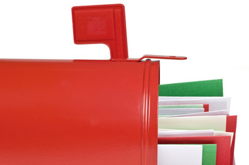 Blank Mail Box With Christmas Cards