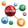 KONTAKT Knopf (Kundenservice Hotline Rufen Sie Uns Web Button)