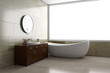 canvas print picture - Bathroom with tube