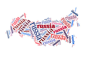 Russia word cloud