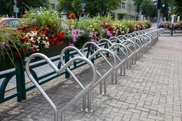 Bike parking area