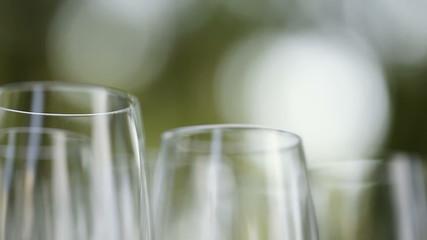 Number glass stemware