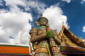 Wat Phra Kaew giant, Bangkok, Thailand