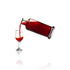 Port Glass and Decanter